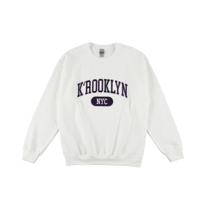 K'rooklyn College Sweat -White-