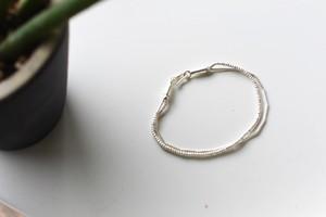 Silver950 Mix chain Bracelet