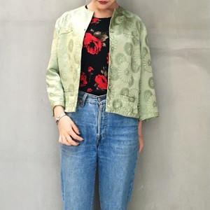 50's flower pattern asian jacket