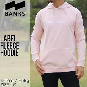 BANKS バンクス LABEL FLEECE HOODIE プルオーバーパーカー WFL0156 RSM