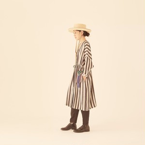 woman's day and night stripe gown coat