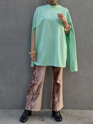 Sleeve Open Long Tee - MINT