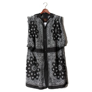 《Ladies商品》 BANDANA COAT (NO SLEEVE) -A(black) <LSD-BM1S2>