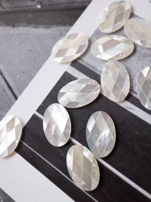 Mosaic Shell - White/ 4 pieces SET - 009
