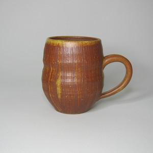 ビアマグ タル型 茶  陶器(信楽焼)製【SO-4836】