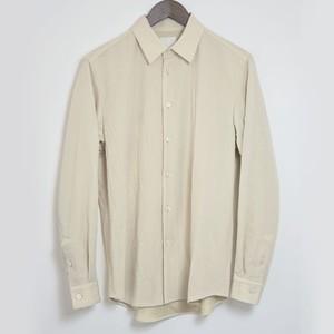 山内 有松塩縮加工リネンシャツ スタンド衿 BEIGE yc41-18s