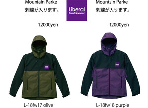 LIBERAL 2018fall mountainパーカー