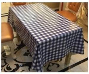テーブルクロス ビニール 撥水 おしゃれな長方形 ギンガムチェック ブルー 北欧 zcza017
