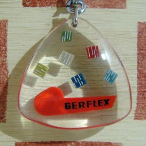 フランス 床材メーカー GERFLEX[ジェルフレックス]床材広告ノベルティ ブルボンキーホルダー