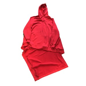 MONSE DRAPED HOODIE RED