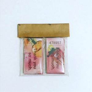送料無料 オリジナル 透ける サンキューチケットシール 香水瓶 ピンク