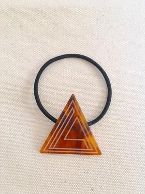 3角ロゴ ヘアゴム