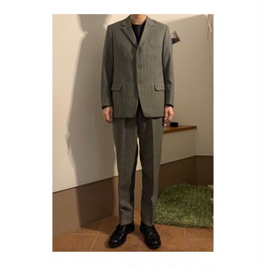3 Button Stripe Wool Set Up