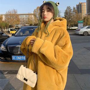 【アウター】ゆるリラックスファッション温かい裏起毛ロング丈ドルマンスリーブコート34977061