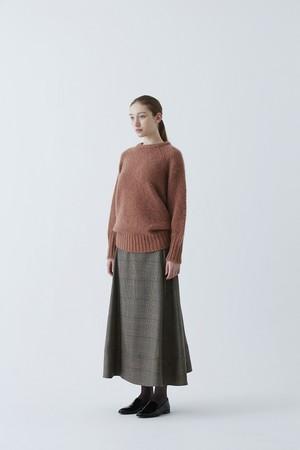Tasmania Twill / Check Wool Flared Skirt