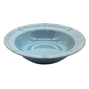 Koyo ラフィネ リム スープ ボウル 皿 約21.5cm アンティークブルー 15987012