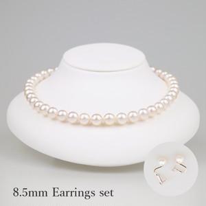 薄桜85E-set(Usuzakura)【Akoya8.0-8.5mm】Necklace & Earrings Set