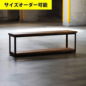 IRON FRAME LOW SHELF 112CM[BROWN COLOR]サイズオーダー可