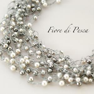 Croshet (silver x pearl)