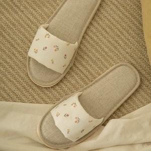 mini tulip embroidery room shoes / チューリップ ルームシューズ