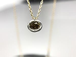 PS011 ダイヤモンドPt900・K18ネックレス