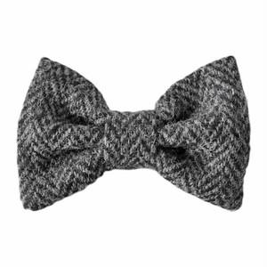 HT bowtie Gray herringbone