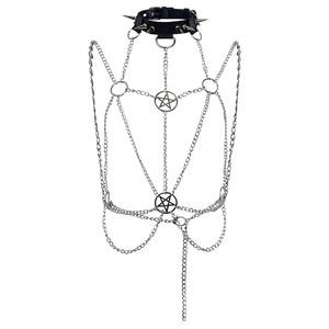 首飾り コスチューム コスプレ小物 レディース メンズ チェーン パンク ロック ホルターネック B7224