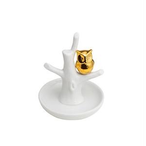 フクロウStoneware Jewelry Holder:浜松雑貨屋 C0pernicus