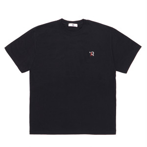 RUEED LOGO EMBROIDERY T-SHIRT / BLACK-RED
