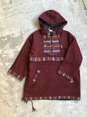 made in Nepal vintage 100% wool pull over
