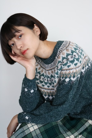 Vintage green nordic sweater