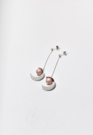 C-frame pierce Silver/Coral Pink