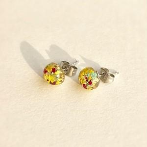 ミニチュア花畑シリーズ SV925スタッズピアス  Miniature flowers field series SV925 stud earrings