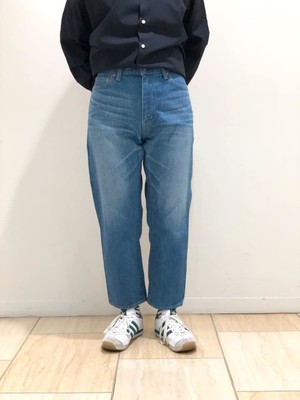 TEXTURE WE MADE - JEANS 12oz SELVAGE CROPPED JEANS - VINTAGE WASH
