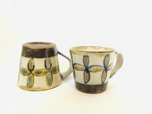 陶器 花つなぎマグカップ(勝窯)
