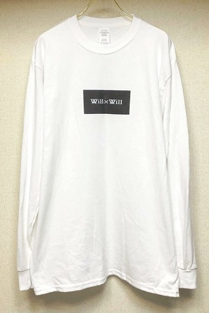 Will×Will BOX LOGO long T- shirts 【White】