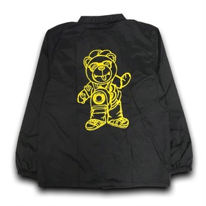 BB BEAR COACH JACKET /BLACK x YELLOW