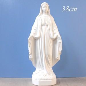 無原罪の聖母像【38cm】室内用白色仕上げ