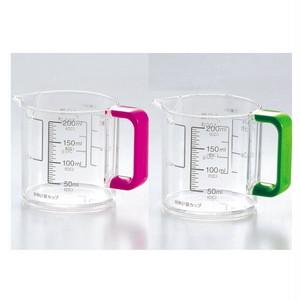 Colors(カラーズ)耐熱計量カップ 200ml C-1386ピンク/C-1389グリーン