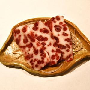 〈この部位が1番という鯨好き多し!〉鯨の鹿の子~アゴ肉~(お刺身用)スライス【100g】【冷凍品】