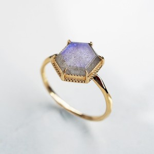 Labradorite Ring  (Hexagon)