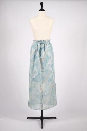 【EBONY】iris cut jacquard skirt - mint green
