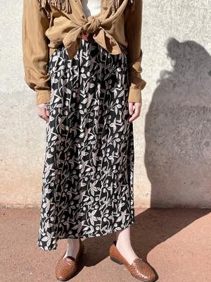 Vintage Botanical Pattern Skirt