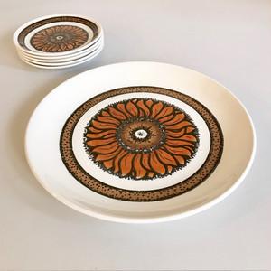 """BILTONS"" Iron Stone Sunflower Platter 1970's イギリス"