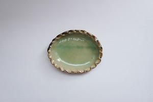 ライトグリーン 豆皿オーバル