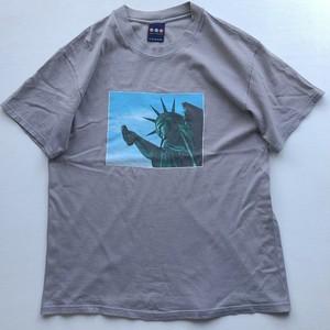 90s     BSF ファーストKAWSグラフィック Tシャツ チャコールグレー 表記(L)