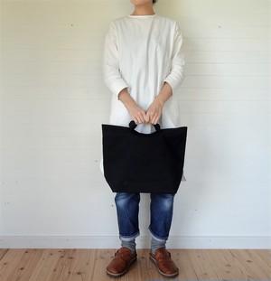トートバッグ 帆布 L 黒