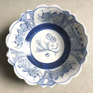 古いなます皿 ちどり模様  / Old patterned plate