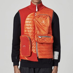 A-COLD-WALL* / PUFFER GILET WITH ASYMMETRICAL 3D POCKETS