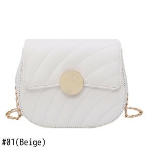 Crossbody Bag Leather Chain Shoulder Bag Sac ショルダーバッグ レザー クロスボディ チェーン サドルバッグ シートバッグ (HF99-2336200)